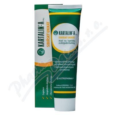 Kartalin-A – přípravek k vnějšímu užití, vhodný na lupénku a alergodermatozy, na některé formy atopické a alergické dermitis a chronický ekzém na solidolové bázi. Prostředek Kartalin-A obsahuje výlučně přírodní bioaktivní komponenty.