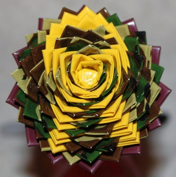 cool Items similar to Support Our Troops Yellow Ribbon Duck Duct Tape Flower Pen or Pencil Topper on Etsy