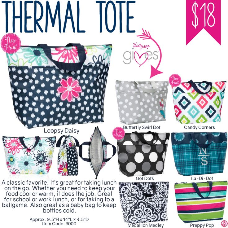 Thirty-One Thermal Tote - Spring/Summer 2017