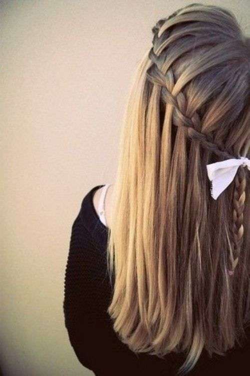I want to learn to do this, but there were no instructions :(: Hair Ideas, Fashion, Hairstyles, Waterfalls, Hair Styles, Makeup, Waterfallbraids, Waterfall Braids, Beauty