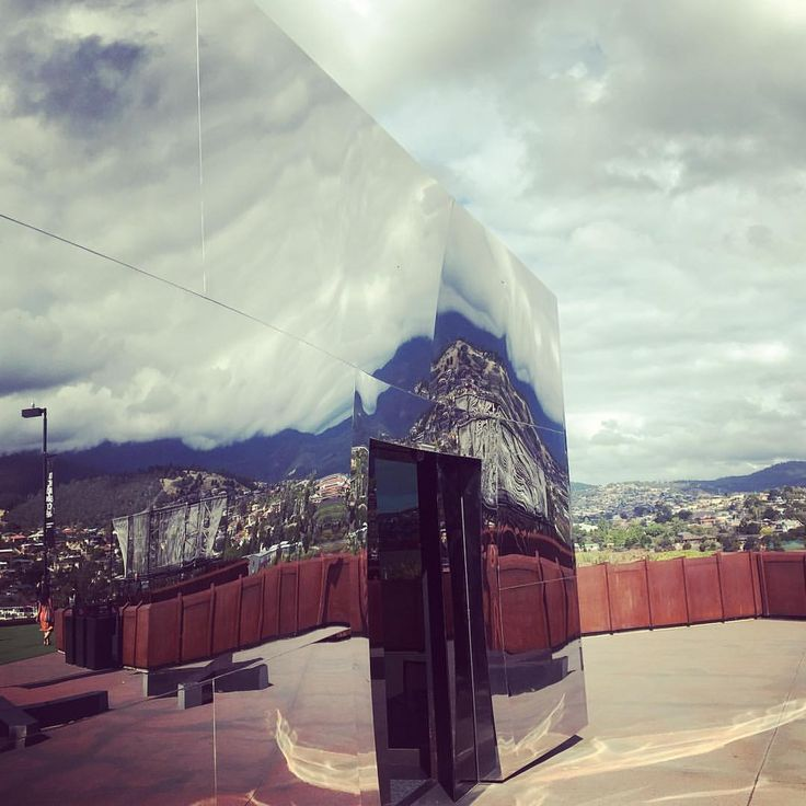 "Reflections [Mona - Saneel Radia (@saneel) on Instagram: ""Entering the #mona museum in #tasmania is like walking into the #sky""]"