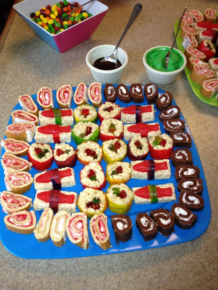 Fu-shi (fun sushi) for Ninjago birthday party