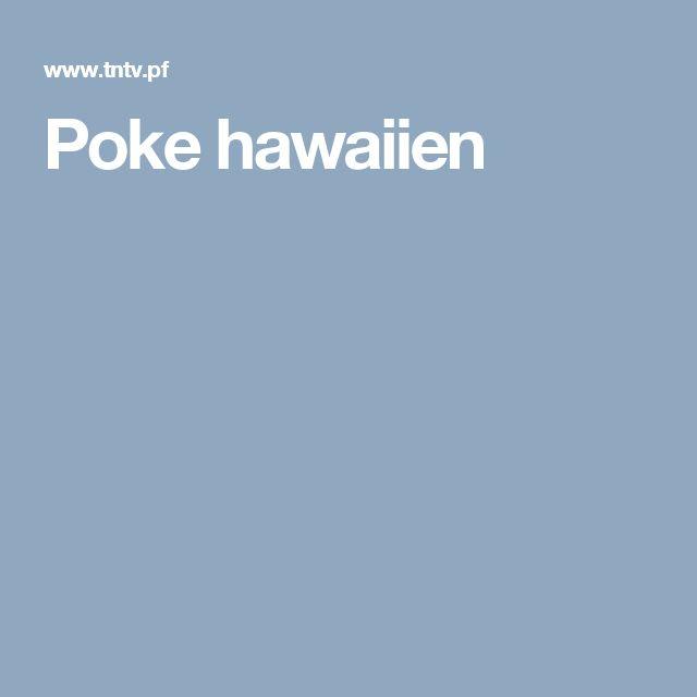 Poke hawaiien