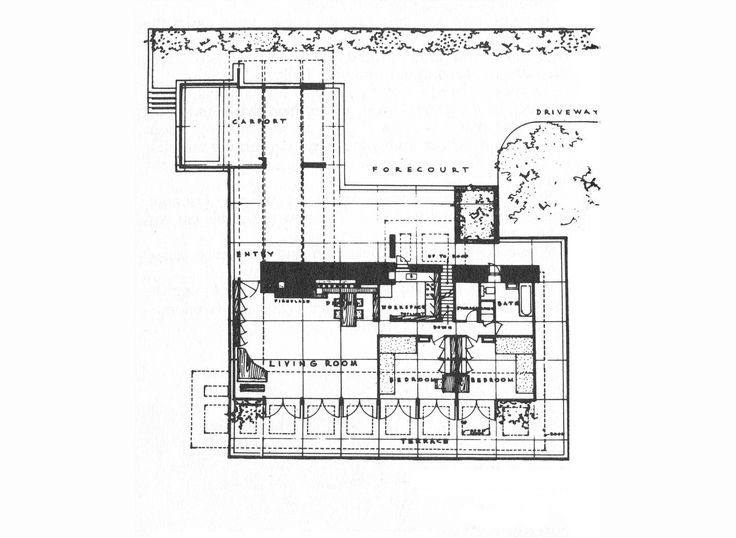 42 best images about flw sturges house on pinterest for Usonian house plans