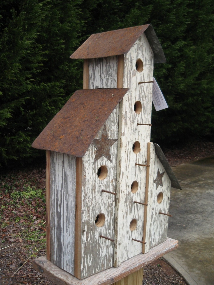 39 best images about primitive birdhouses on pinterest for Bird house styles