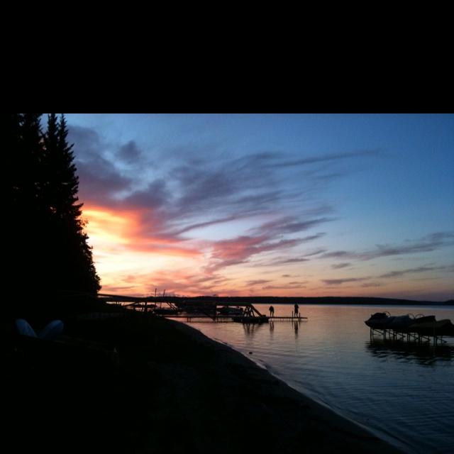 Sunsets at the lake