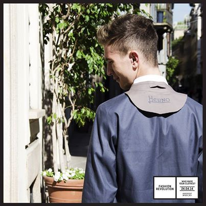 Luca #insideout for #FashionRevolution & #FashionRevolutionItalia #Herno