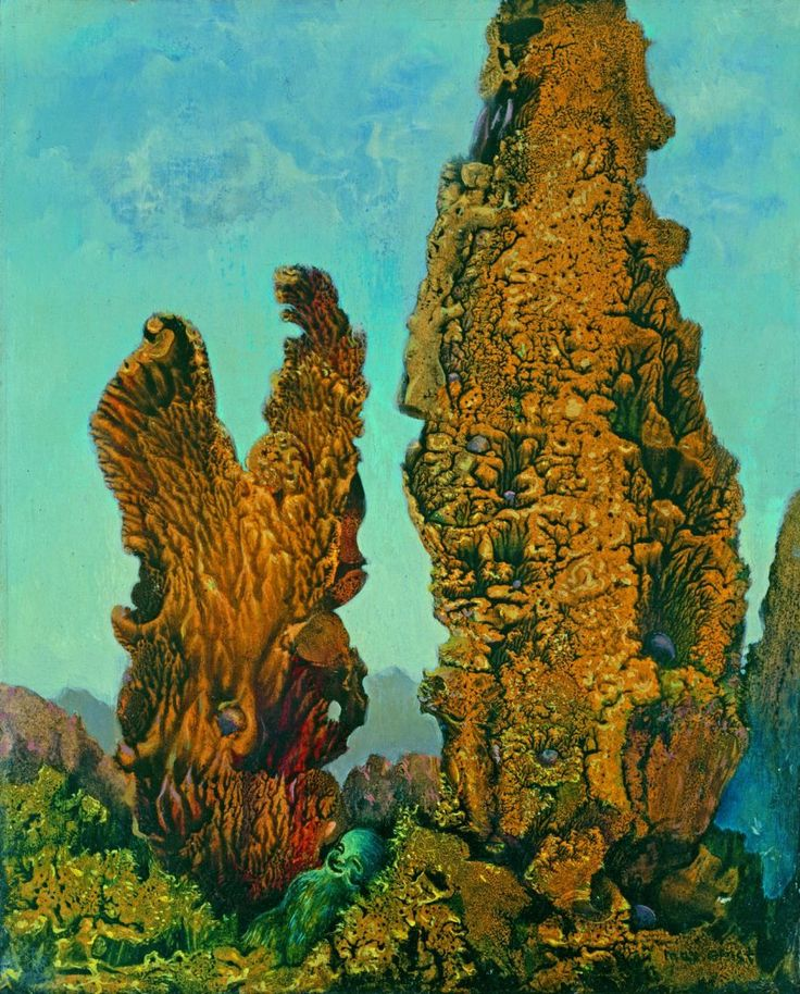 Max Ernst. Cypresses. 1939.