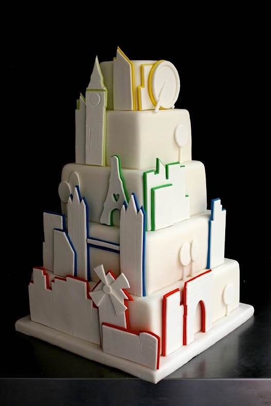cityscapes cake