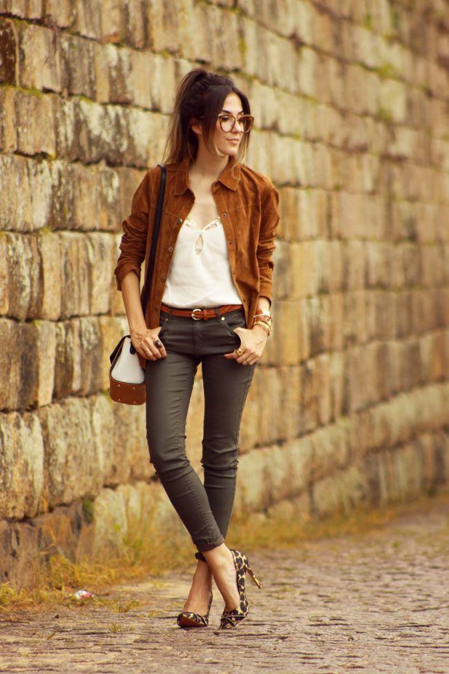 FashionCoolture - 07.01.2016 look du jour Dafiti brown suede shirt denim pants (1)