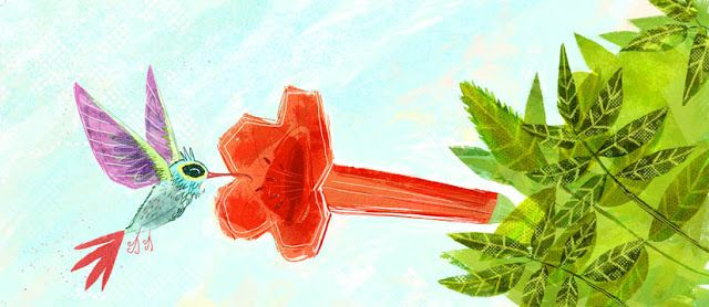"juanbjuan children illustration: Hummingbird from "" Lo que veo"""
