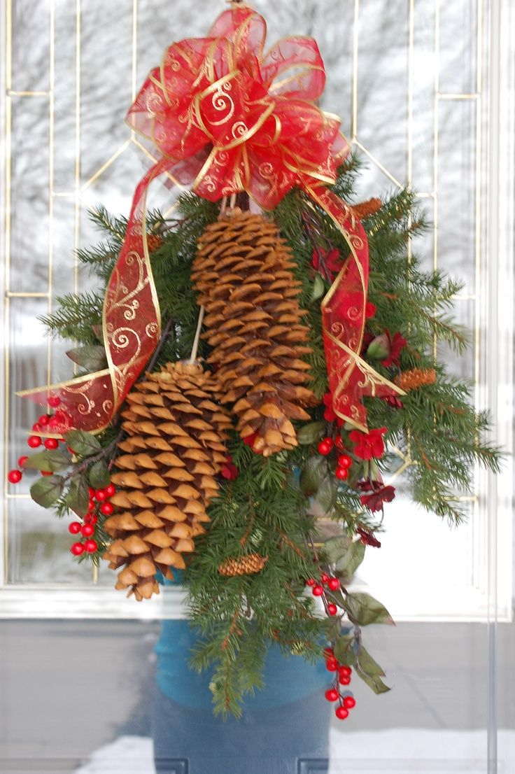 109 best pinecone crafts images on pinterest pine cones Homemade christmas decorations using pine cones