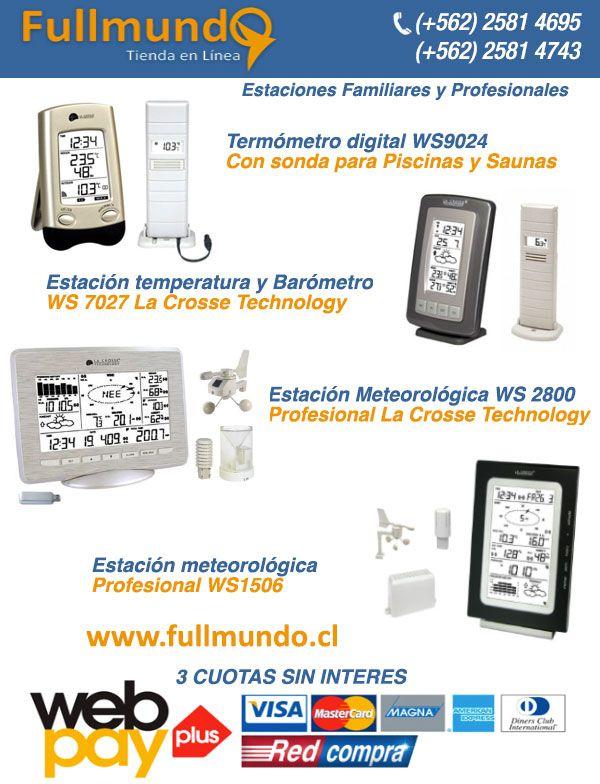 Las estaciones de meteorología de Fullmundo con garantía de 6 meses, servicio de soporte técnico WWW.FULLMUNDO.CL