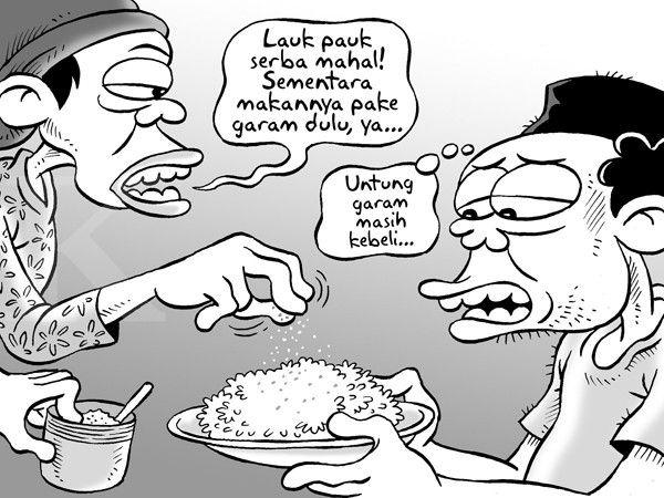 Kartun Benny, Kontan - Agustus 2015: Makan Tanpa Sayur dan Lauk