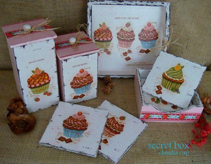 cocina con cupcakes