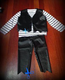 DIY y patrón gratis disfraz pirata niño