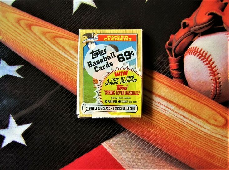 1987 topps cello pack roger clemens showing sealed all