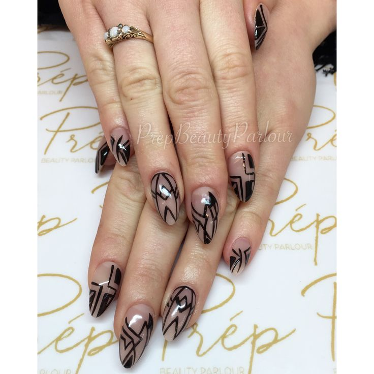 20 best nail art images on pinterest nailart nail art and eyes custom nude nails with black nail art by yana prpbeautyparlour nailart vancity prinsesfo Image collections