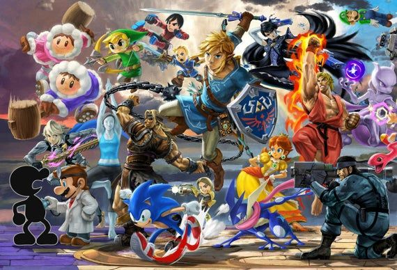 super smash bros ultimate mega posters