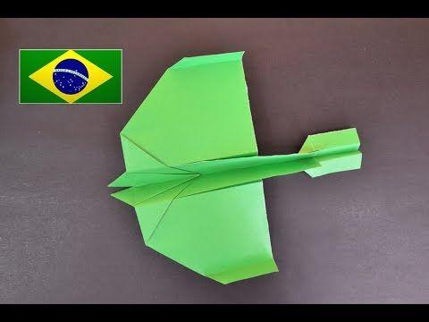 Origami: Avião super planador - Tutorial com voz em português PT BR - YouTube