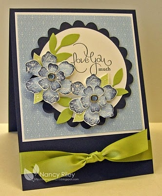 by Nancy Riley, iSTAMP. love the colour combo