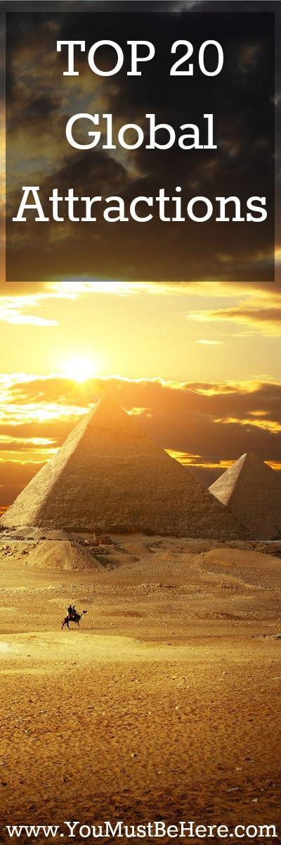 TOP 20 Global Attractions   - YouMustBeHere.com