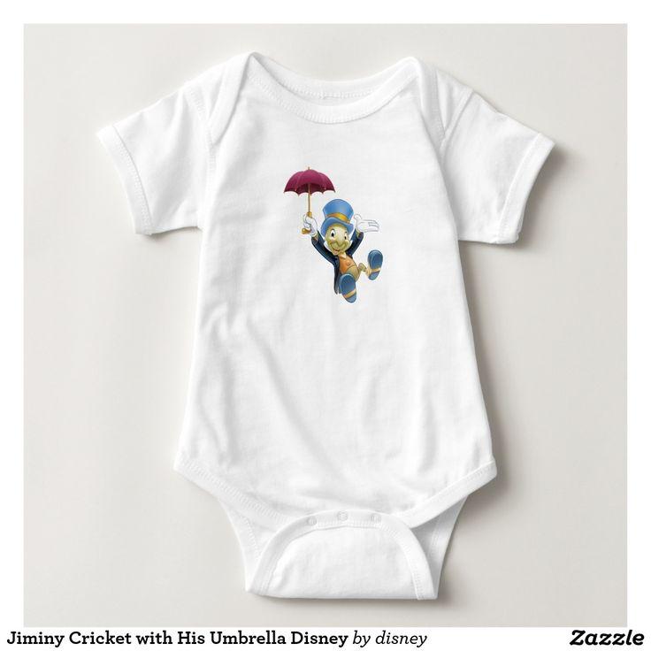 Jiminy Cricket with His Umbrella Disney. Regalos, Gifts. #camiseta #tshirt
