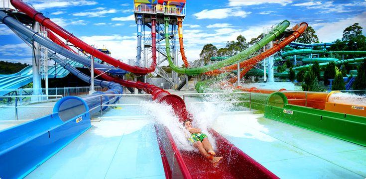 Extreme water rides in Wet 'n' Wild, Australia