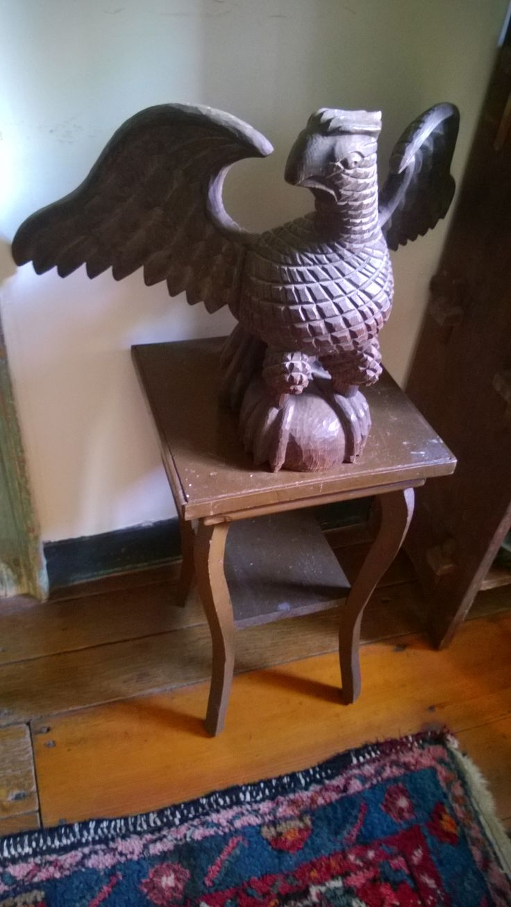 Huge old hand carved wood federal eagle folk art wooden eagle wall - A Rodney Boyer Eagle From A Private Collection Was Told He Thought He Was Schimmel Reincarnated