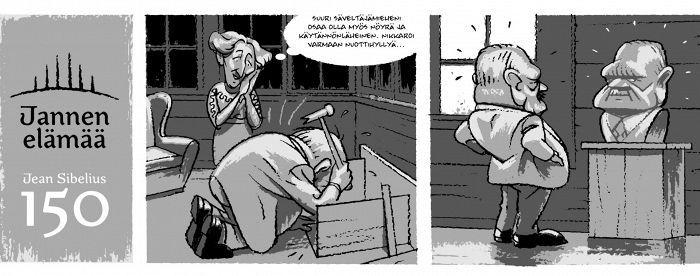 Huhtikuun Sibelius-sarjakuva: Aateliskompleksi vaivasi Sibeliusta - Kulttuuri - Helsingin Sanomat