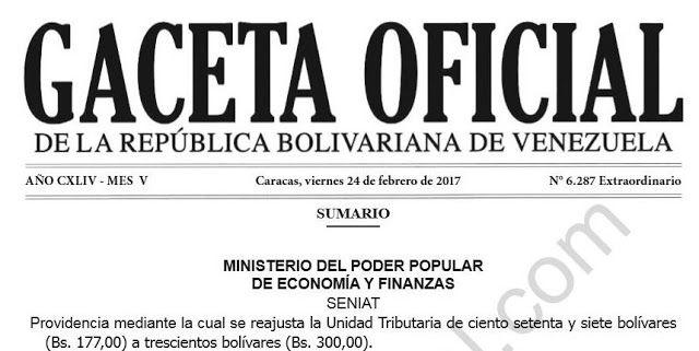 PENDIENTE! Vea cómo deben pagar el cestaticket en Marzo 2017 con la nueva unidad tributaria ~ Gaceta Oficial