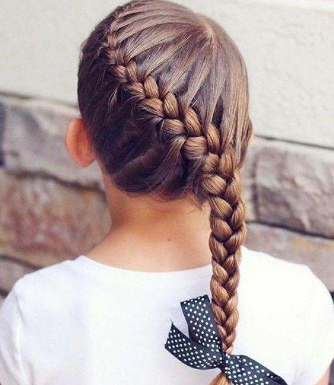idées de tresses pour les petites filles | coiffure mariage
