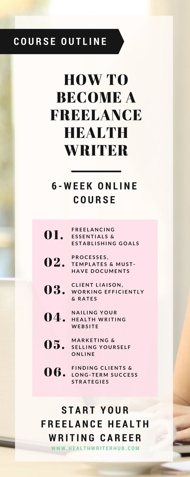 Learn how to set up a successful freelance health writing business in with my freelance health & medical writing course.