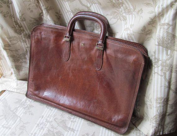 Genuine Vintage Leather 'The Bridge' Briefcase by letrucvintage