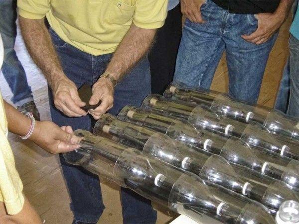 Colector solar con botellas PET | mundoecco