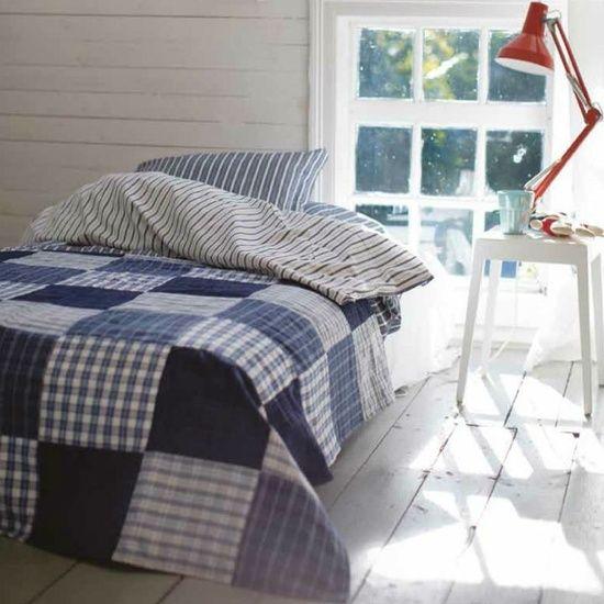 Colchas de patchwork en dormitorios | Estilo Escandinavo