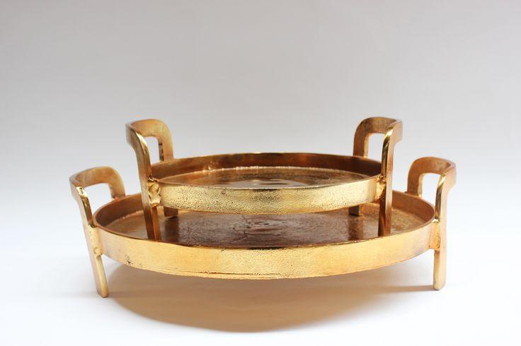Tray with upright handles alum gold http://www.orsonandblake.com.au/2-59_decorative-accessories.htm
