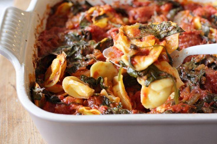 Gegratineerde ravioli met spinazie // Francesca Kookt