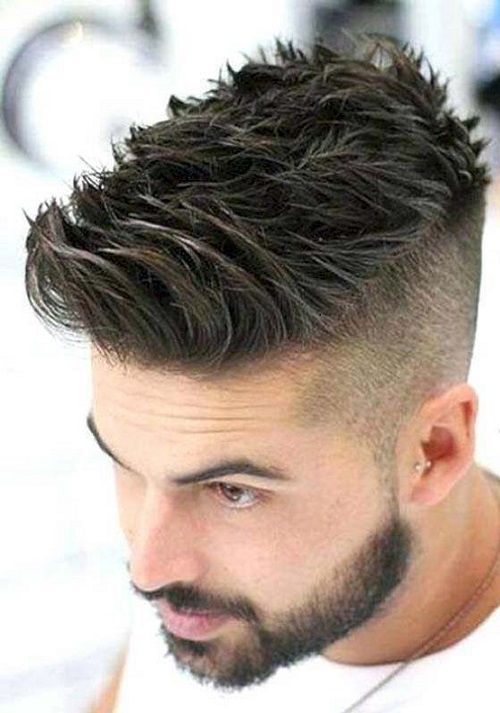 trendy men hairstyle winter