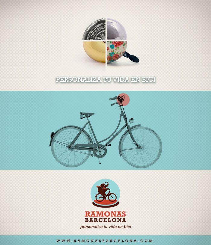 ¿Crees que tu bici es un poco aburrida? Ven a Ramonas y dale una alegría. Encuentra todos los complementos que le faltan y renueva su look .
