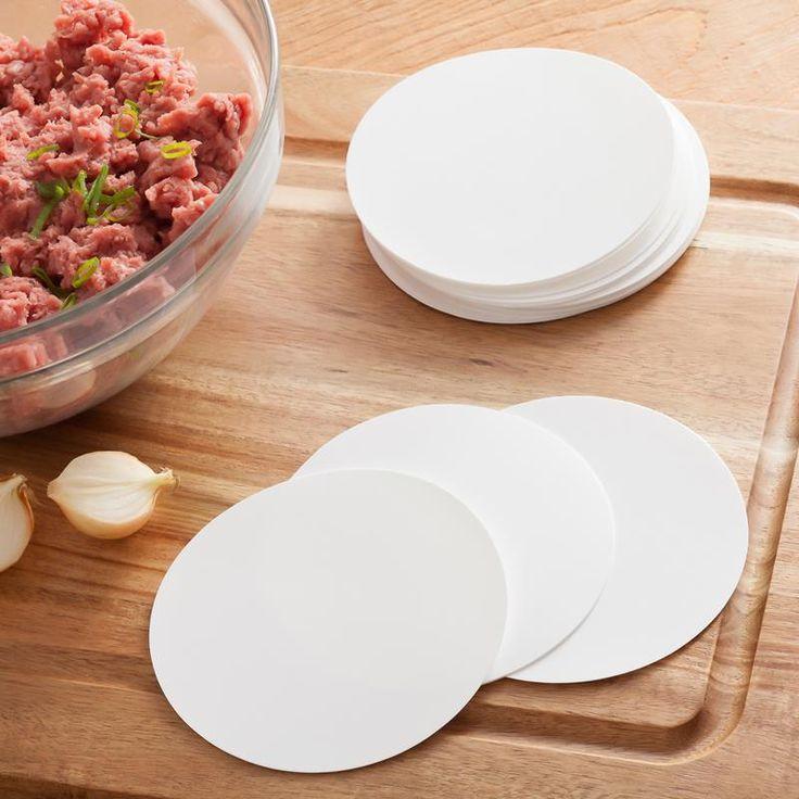 Make multiple hamburgers and keep them separate in your hamburger press with the Patty Press Tangibles Hamburger Press Divider Discs.