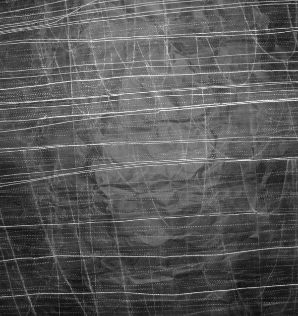 New Drawings. Chalk, Thread and Punctures on Black Paper. by Helen Booth