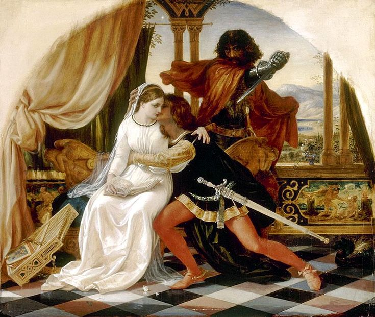 """Joseph Noel Paton, """"The Murder of Paolo and Francesca"""", before 1901."""