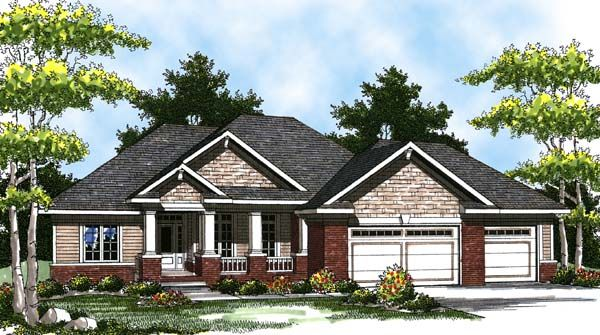 House plan 73321 colonial craftsman ranch plan with 1694 for House plans ranch 3 car garage