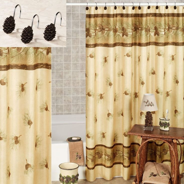 Pine Cone Shower Curtain Rings