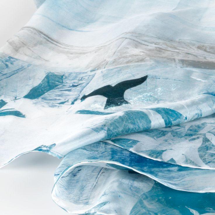 Daubs & Dashes: Husavik silk scarf - Iceland Collection A/W 16