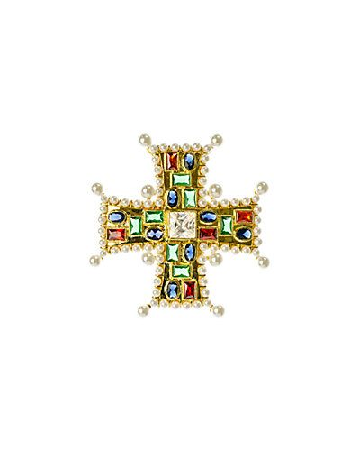CZ by Kenneth Jay Lane Plated Pin