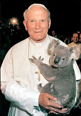 Blessed John Paul II with a little friend :) WHY IS THIS PICTURE NOT EVERYWHERE ON THE INTERNET.   ///   loved this Pope