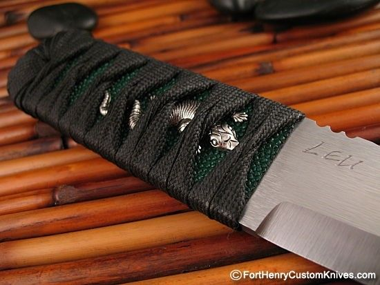 """This Kwaiken from Pohan Leu was crafted from a single 3/16"""" thick piece of A2 steel, the blade is an assertive 1 1/4"""" Wide and it has a Razor Sharp Double Ground edge."""