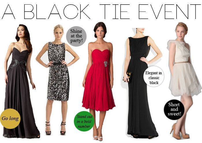 Your premium guide on black tie dresses